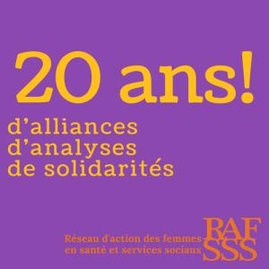 20 ans d'alliances d'analyses de solidarités-RAFSSS