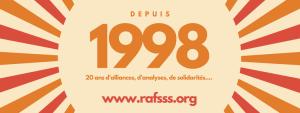 RAFSSS - Depuis 1998 - 20 ans d'alliances, d'analyses, de solidarités